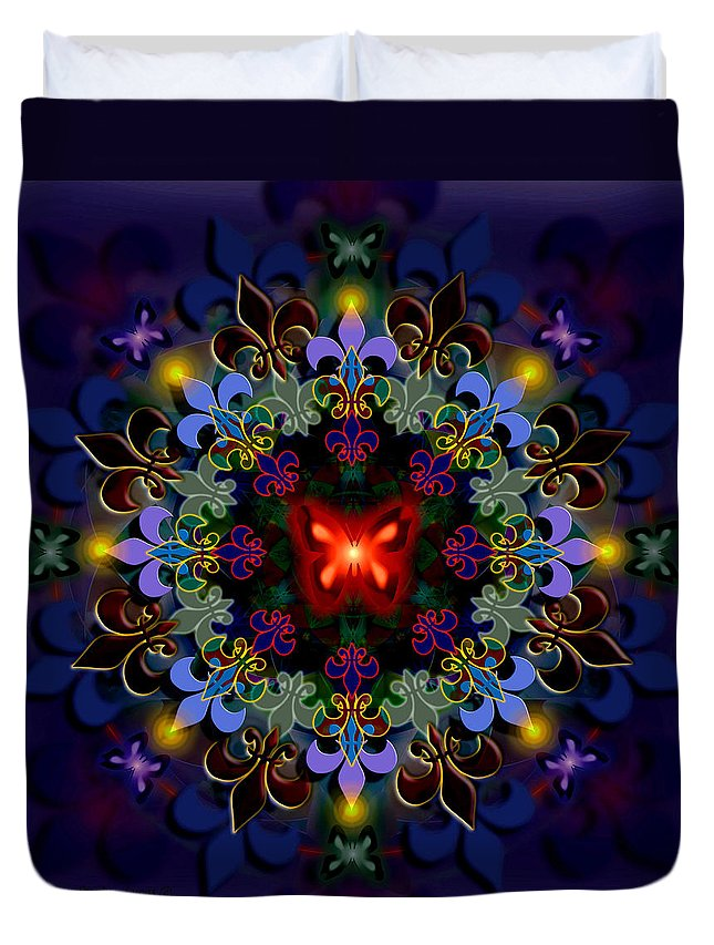 Spiritual Duvet Cover featuring the digital art Metamorphosis Dream II by Stephen Lucas