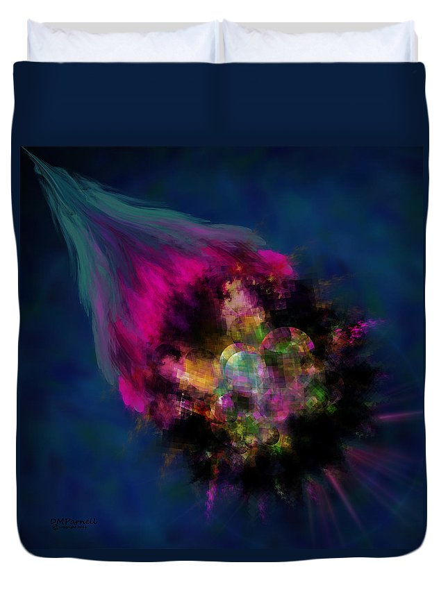 Meteor Duvet Cover featuring the digital art Meteor by Diane Parnell