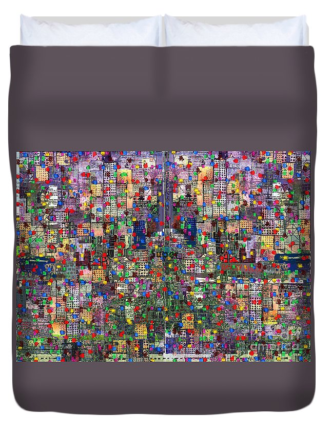 Metro Duvet Cover featuring the digital art Metropolis Ix by Andy Mercer
