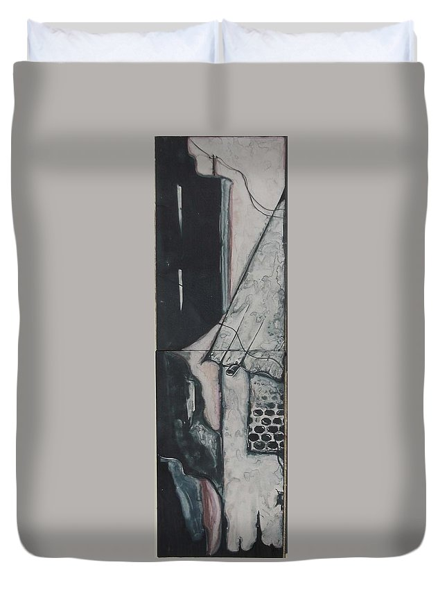 City Duvet Cover featuring the painting Metropoliton 5 by Sabbir Khan