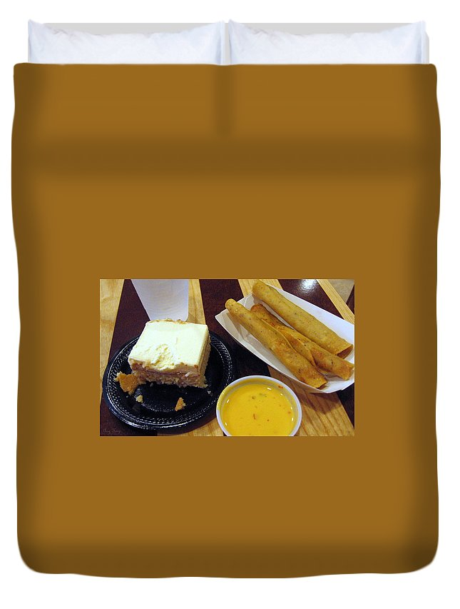 Queso Duvet Cover featuring the photograph Mexican All The Way by Amy Hosp