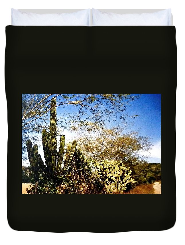 Mexico Duvet Cover featuring the photograph Mexican Country Road by Will Borden