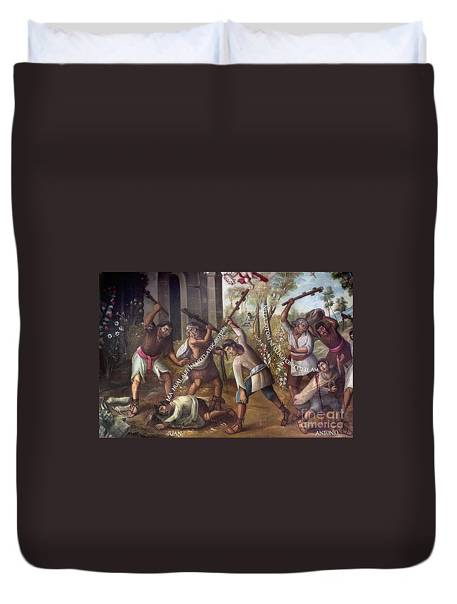 18th Century Duvet Cover featuring the photograph Mexico: Christian Martyrs by Granger