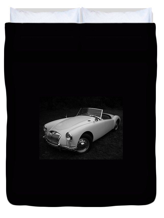 Morris Duvet Cover featuring the photograph Mg - Morris Garages by Juergen Weiss
