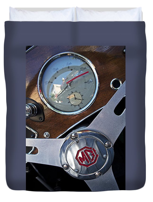 Car Duvet Cover featuring the photograph M G Sportster by Doug Davidson