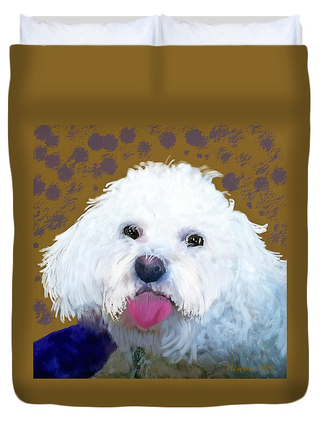 Mia Duvet Cover featuring the painting Mia by Mia Hansen