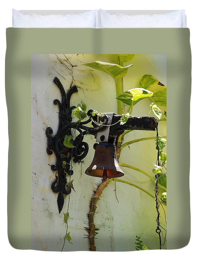 Architecture Duvet Cover featuring the photograph Miami Monastery Bell by Rob Hans