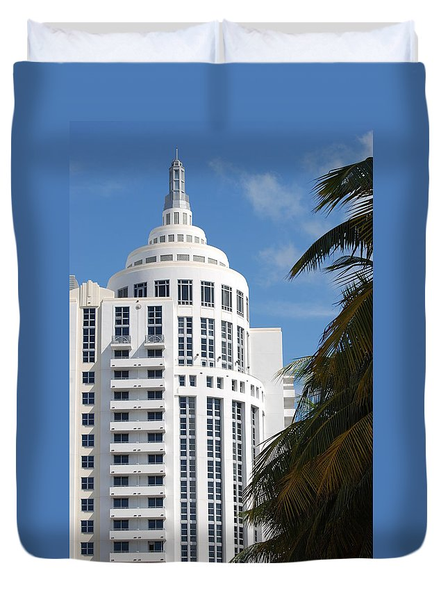 Architecture Duvet Cover featuring the photograph Miami S Capitol Building by Rob Hans