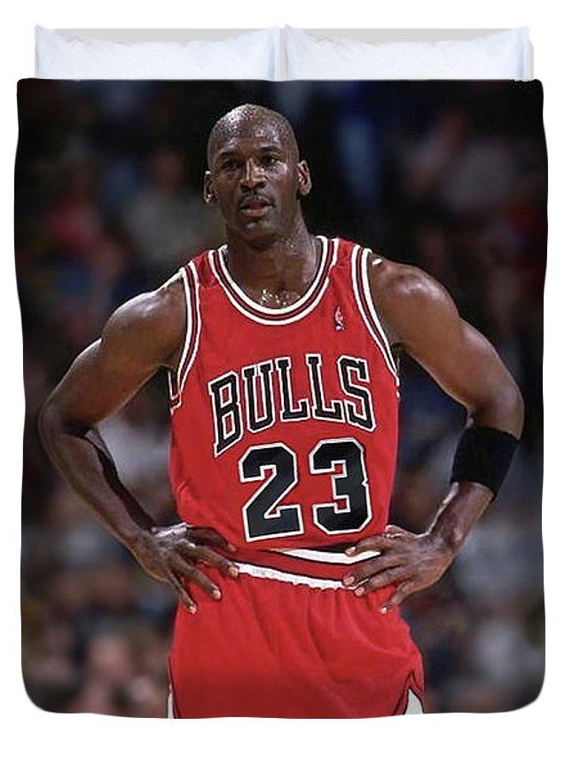 Michael Jordan, Number 23, Chicago Bulls Duvet Cover