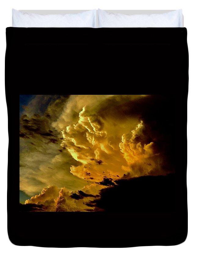 Duvet Cover featuring the photograph Michelangelo's Dream by Joy Elizabeth