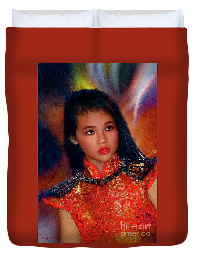 Michelle Ahl Duvet Cover featuring the photograph Michelle Ahl by Blake Richards