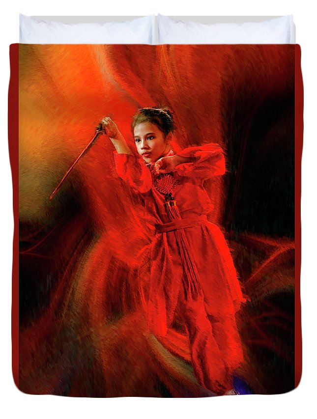 Michelle Ahl Duvet Cover featuring the photograph Michelle Ahl To The Rescue by Blake Richards