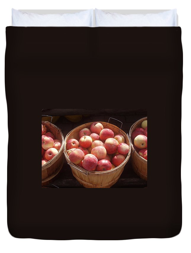 Apples Duvet Cover featuring the photograph Michigan Apples by Wayne Potrafka