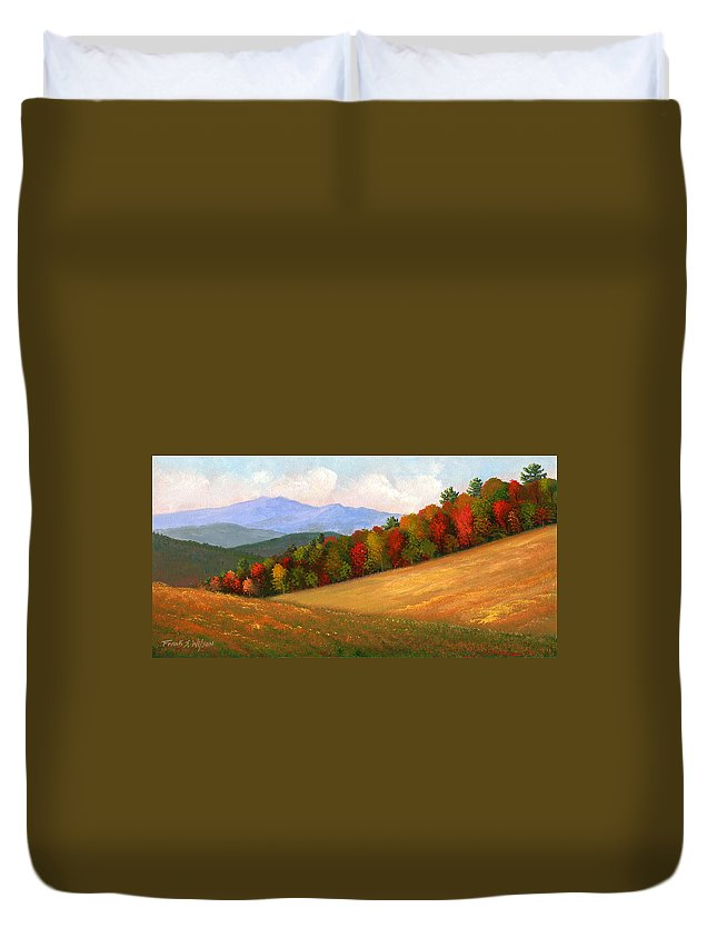 Landscape Duvet Cover featuring the painting Mid Autumn by Frank Wilson