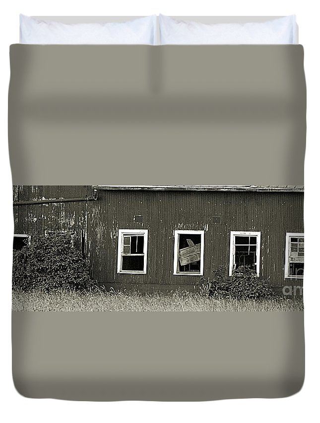 Old Duvet Cover featuring the photograph Mid-century Barn Wood Salvage by Scott D Van Osdol