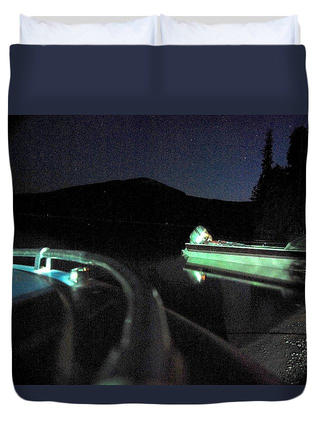 Night Duvet Cover featuring the photograph Midnight At Lake Diamond by Wayne Marsh