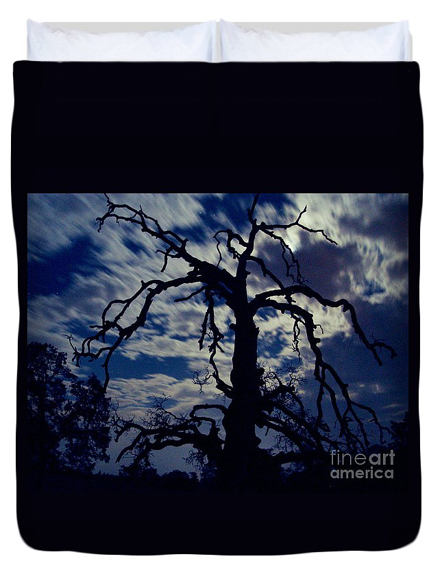 Clouds Duvet Cover featuring the photograph Midnight Blue by Peter Piatt