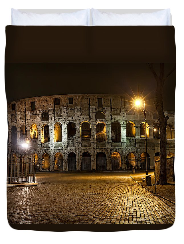 Italy Duvet Cover featuring the photograph Midnight Walk by Janet Fikar