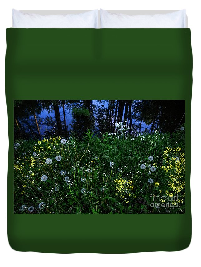 Midsummer Duvet Cover featuring the photograph Midsummer Night's Magic by Ismo Raisanen