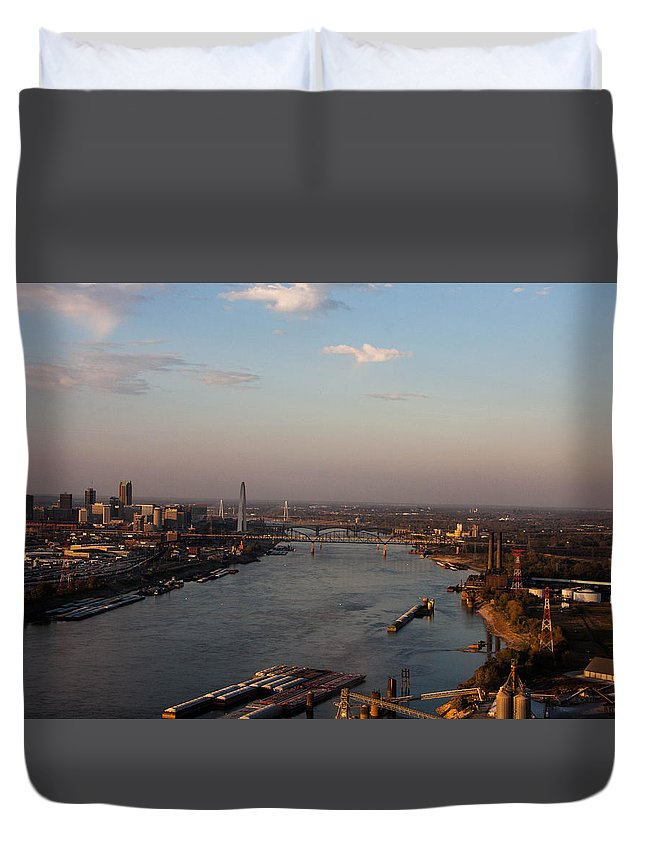 Mississippi Duvet Cover featuring the photograph Mighty Mississippi by Gotcha Pics Photography