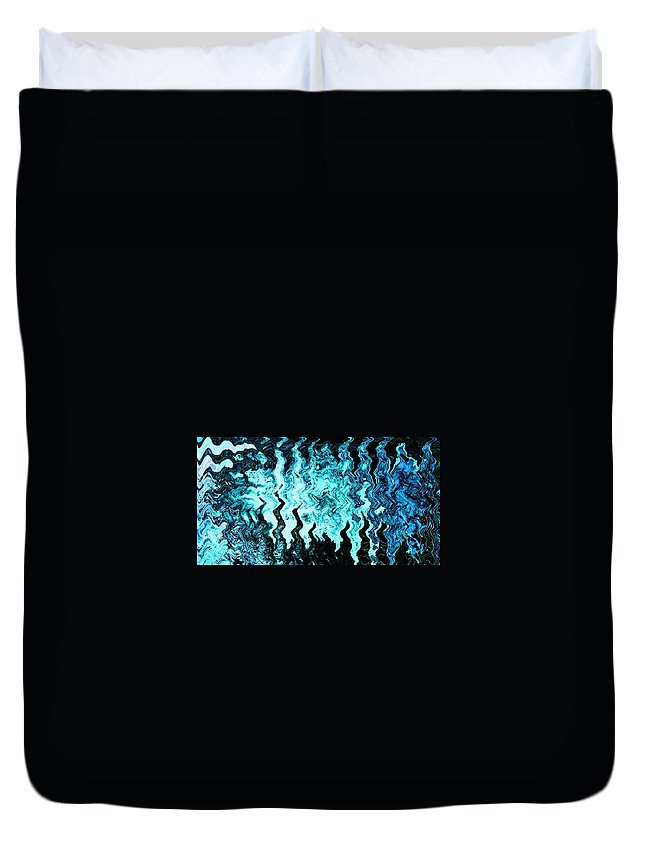 Abstract Duvet Cover featuring the digital art Migration by Lenore Senior