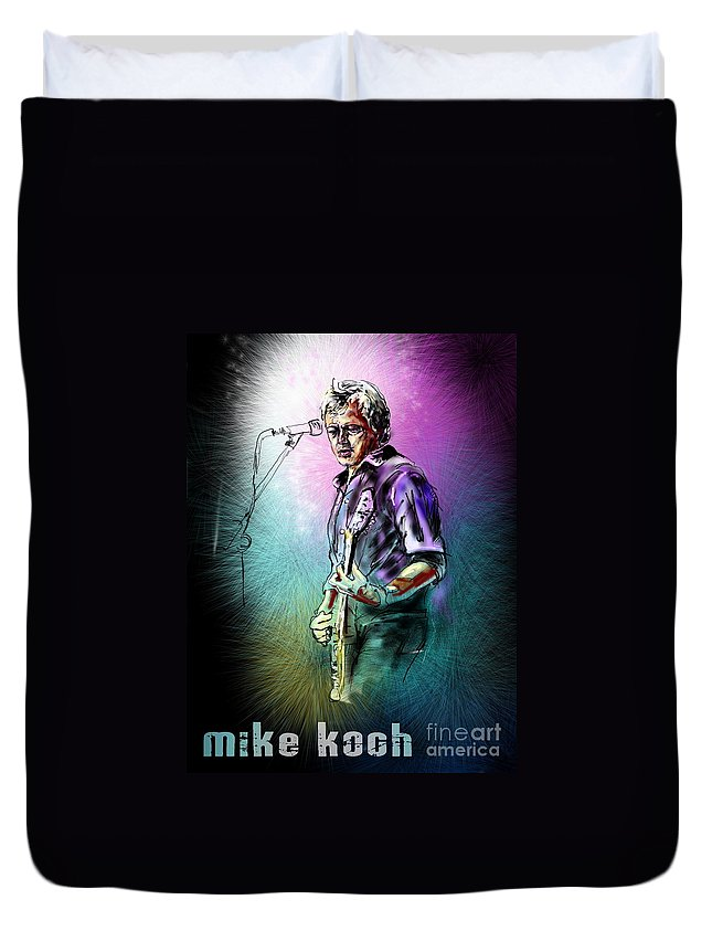 Mike Koch Portrait Duvet Cover featuring the digital art Mike Koch by Miki De Goodaboom