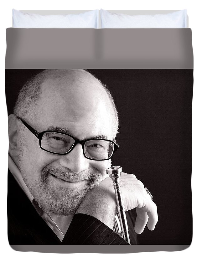 Mike Vax Duvet Cover featuring the photograph Mike Vax Professional Trumpet Player Photographic Print 3760.01 by M K Miller