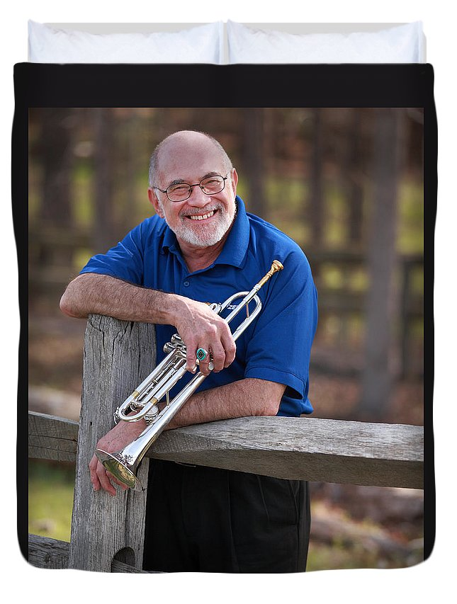 Mike Vax Duvet Cover featuring the photograph Mike Vax Professional Trumpet Player Photographic Print 3766.02 by M K Miller