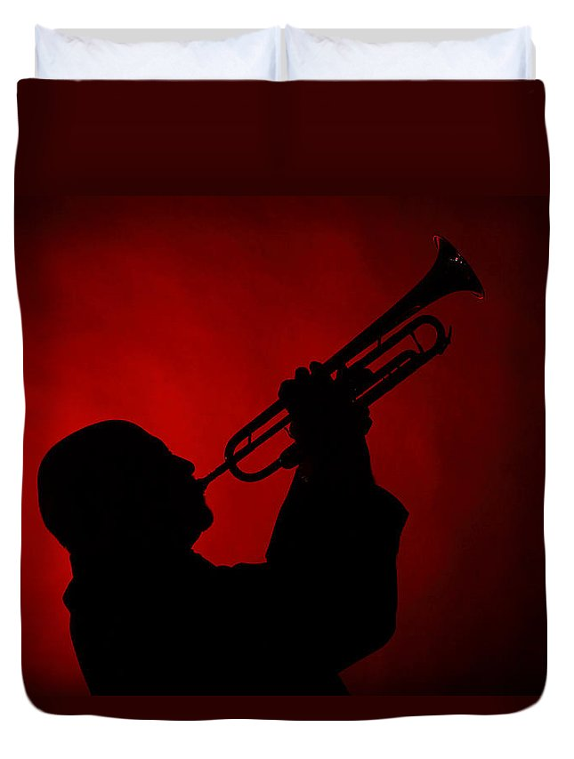 Mike Vax Duvet Cover featuring the photograph Mike Vax Professional Trumpet Player Photographic Print 3769.02 by M K Miller