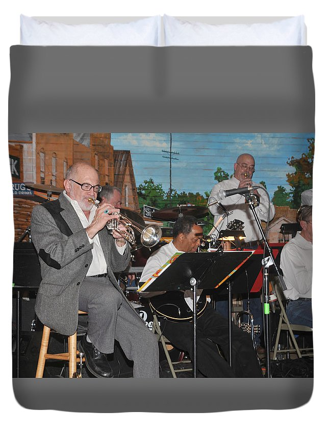 Mike Vax Duvet Cover featuring the photograph Mike Vax Professional Trumpet Player Photographic Print 3773.02 by M K Miller