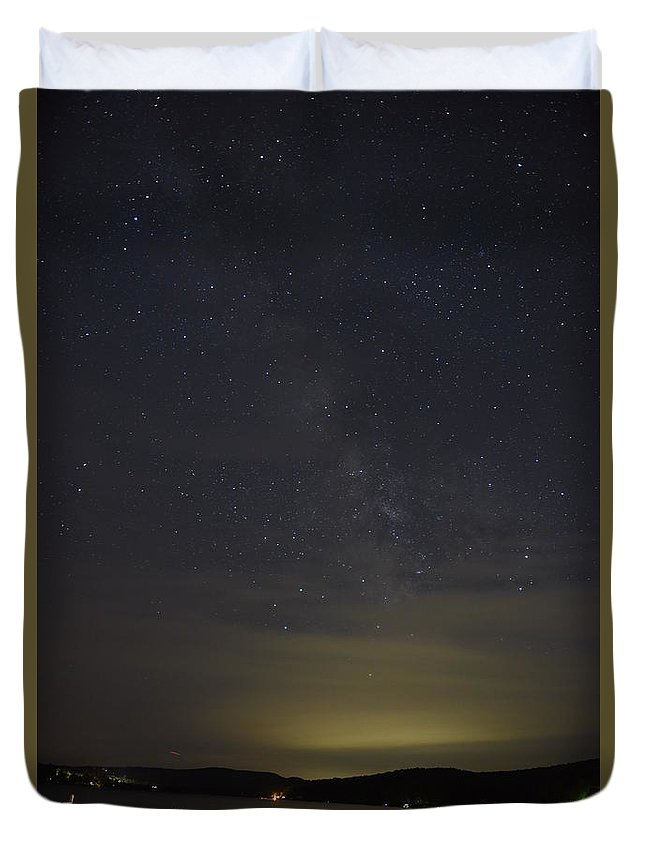 New England Duvet Cover featuring the photograph Milky Way #1 by Susan Russo