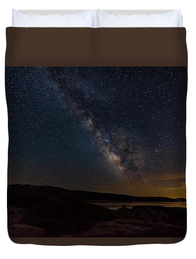 Astrophotography Duvet Cover featuring the photograph Milky Way 3 by Jim Thompson