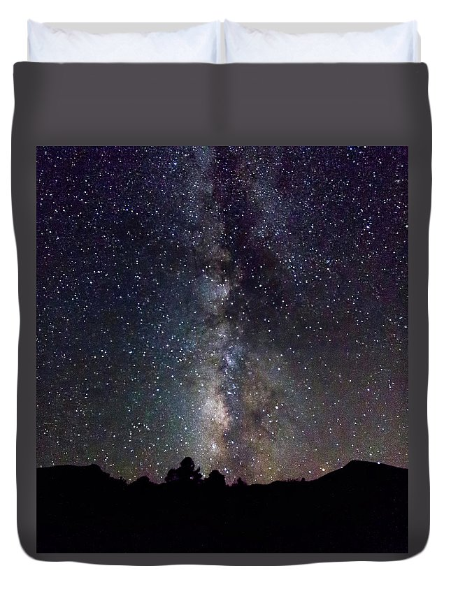 2017 Duvet Cover featuring the photograph Milky Way 9977 by Deidre Elzer-Lento