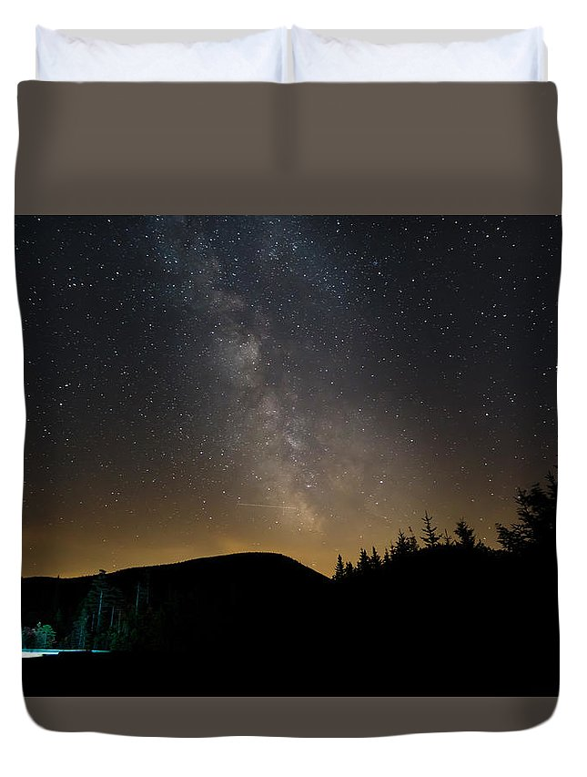 Milky Way Duvet Cover featuring the photograph Milky Way by Adam Robitaille
