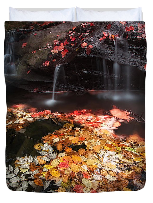 Stream Duvet Cover featuring the photograph Mill Creek by Todd Wall