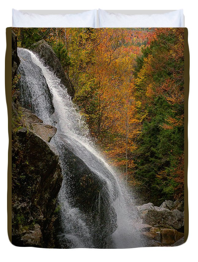 Millbrook Duvet Cover featuring the photograph Millbrook Falls by Chris Whiton