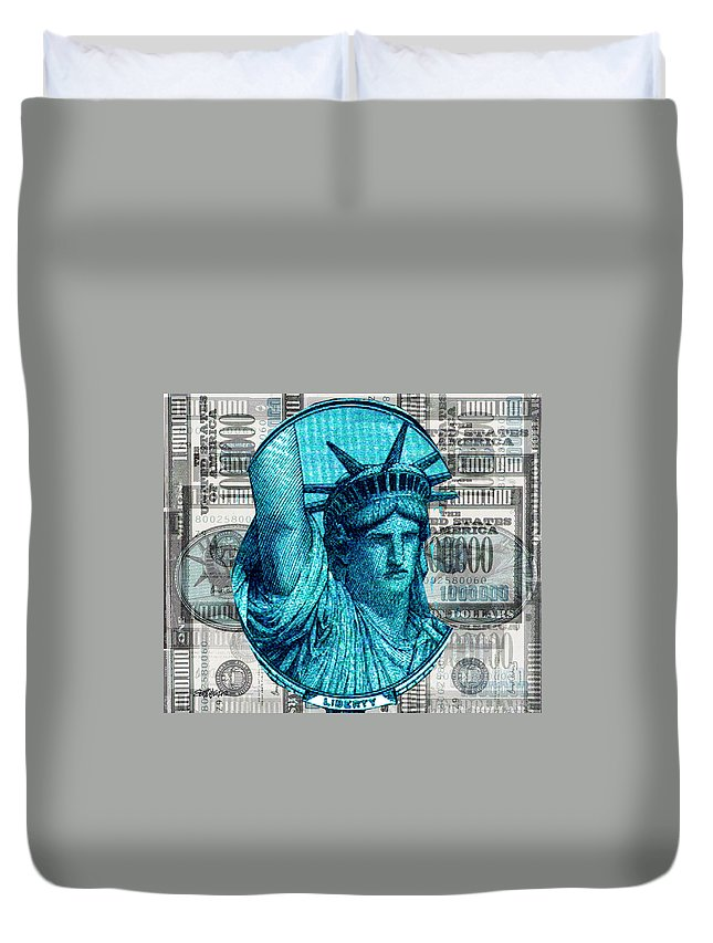 Millions Duvet Cover featuring the digital art Million Dollar Pile by Seth Weaver