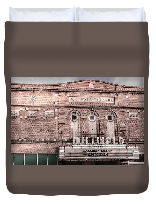 Architecture Duvet Cover featuring the photograph Millwald by Jim Love