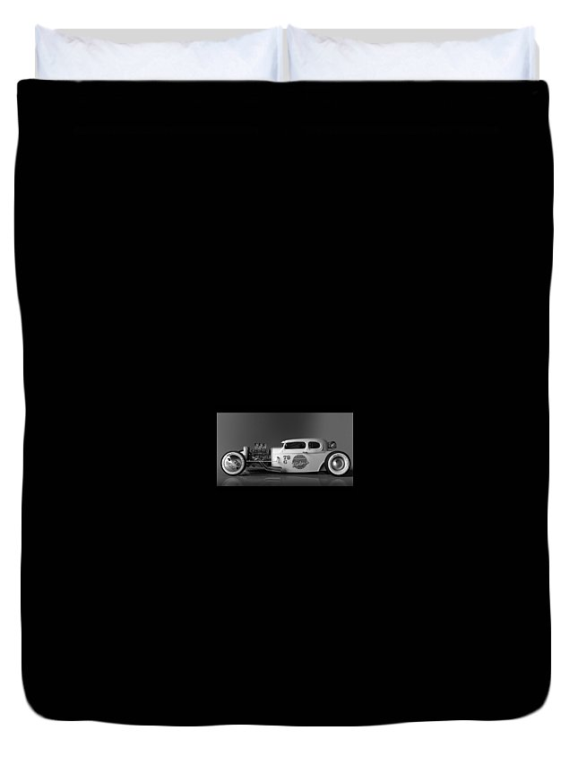Milton Motors 79 Coupe Concept Duvet Cover featuring the digital art Milton Motors 79 Coupe Concept by Dorothy Binder