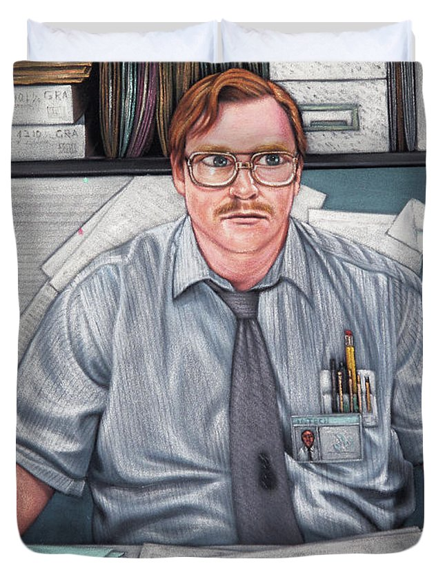 office space cover. Velvet Duvet Cover Featuring The Painting Milton Waddams Of Office Space Played By Stephen Root