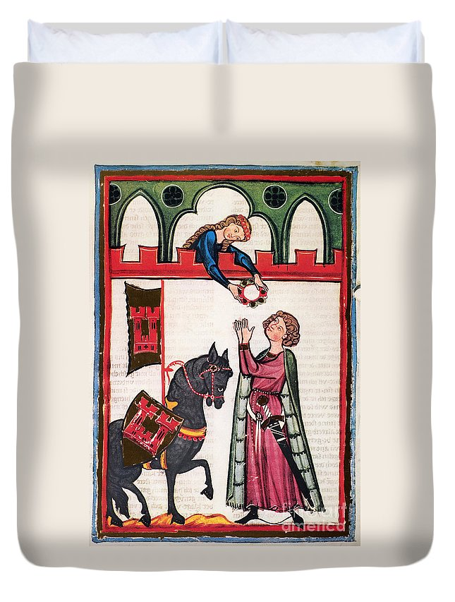 14th Century Duvet Cover featuring the photograph Minnesinger Lieder by Granger