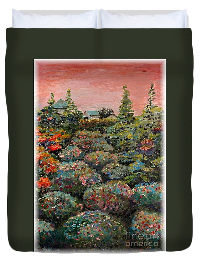 Minnesota Duvet Cover featuring the painting Minnesota Memories by Nadine Rippelmeyer