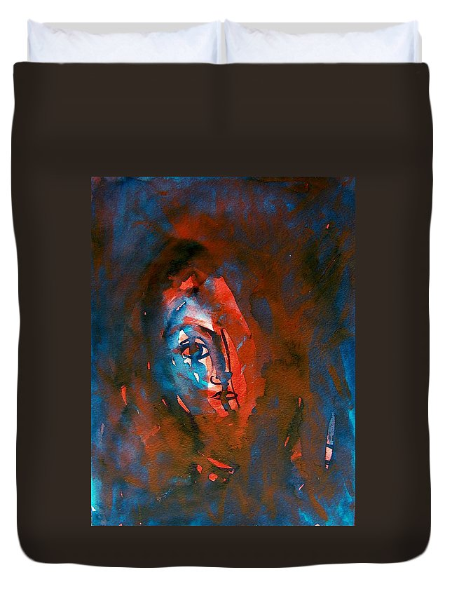 Abstract Duvet Cover featuring the painting Miranda Wept by Judith Redman