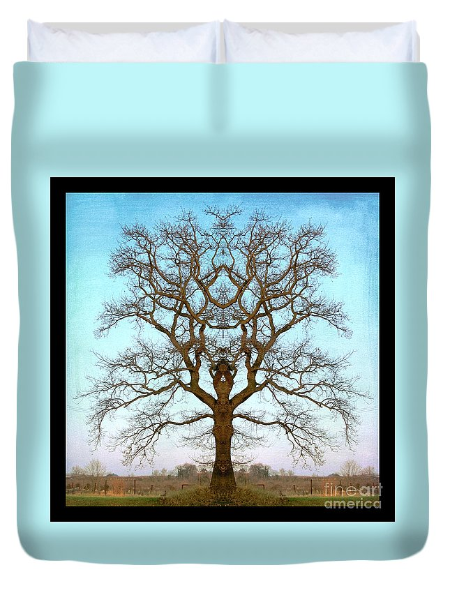 Tree Duvet Cover featuring the photograph Mirror Tree by Digital Crafts
