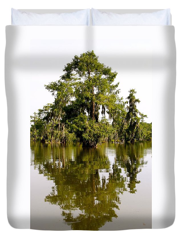 Tree Duvet Cover featuring the photograph Mirrored Reflection by Matthew Felder