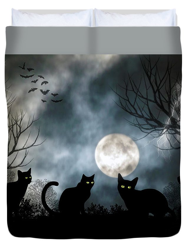 2d Duvet Cover featuring the photograph Mischief Times Four by Brian Wallace