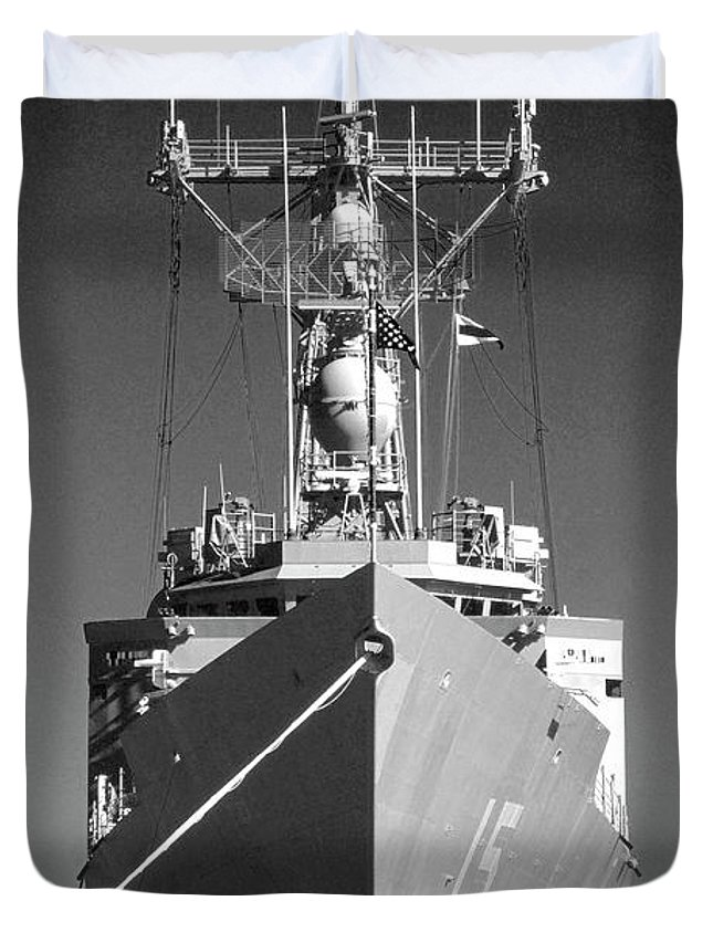 Photography Duvet Cover featuring the photograph Missile Destroyer by Frederic A Reinecke