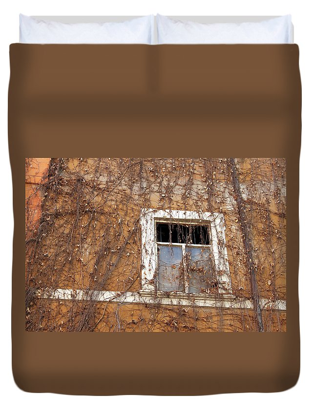 Missing Duvet Cover featuring the photograph Missing The Leaves by Munir Alawi
