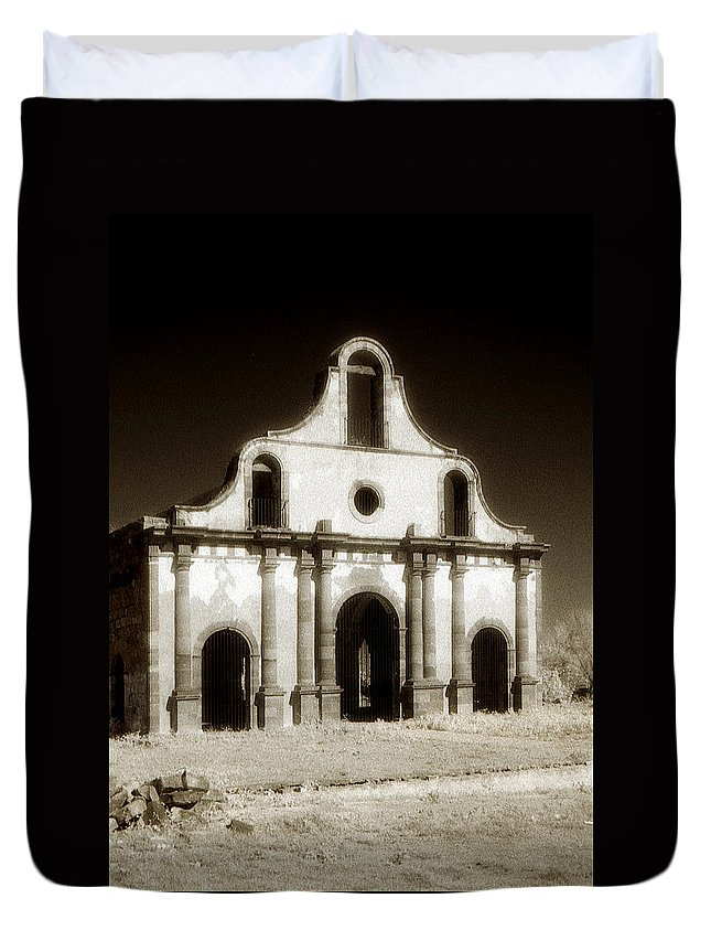 Mission Duvet Cover featuring the photograph Mission Abandoned by Marilyn Hunt