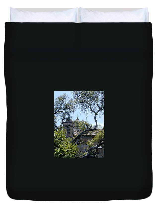 Mission Duvet Cover featuring the photograph Mission At Carmell by Douglas Barnett
